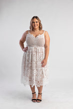 Load image into Gallery viewer, White lace dress city chic