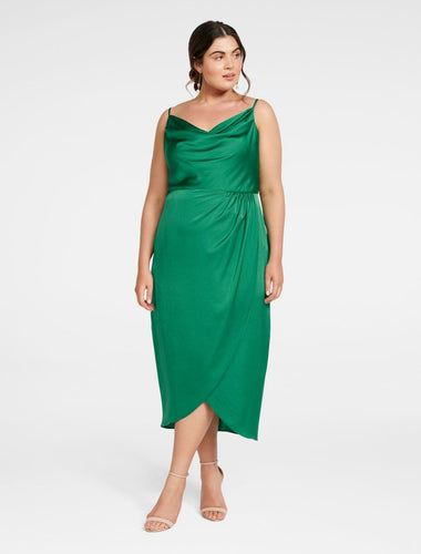 Holly Green Midi Dress