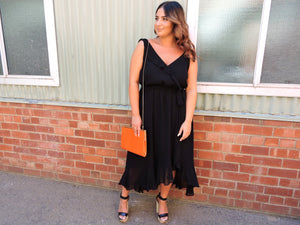 Black flowy dress City Chic