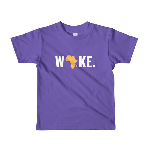 Woke Africa Short Sleeve Kids T-shirt