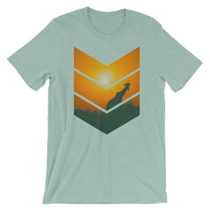 Giraffe Sunset Short-Sleeve Unisex T-Shirt