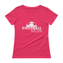 Load image into Gallery viewer, Football Mom Scoopneck T-Shirt