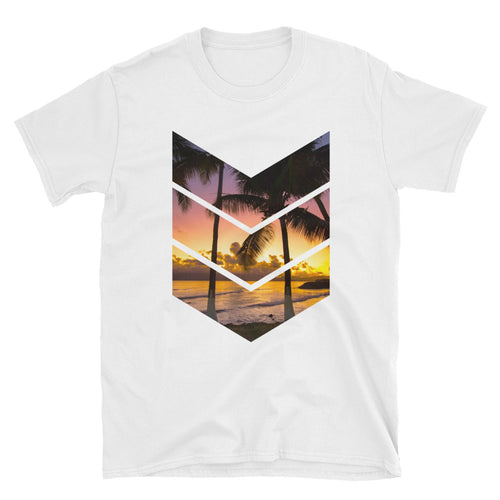 Guadeloupe Sunset Short-Sleeve Unisex T-Shirt
