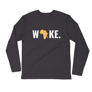 Woke Africa Long Sleeve Fitted Crew