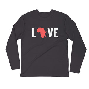 Love Africa Long Sleeve Fitted Crew