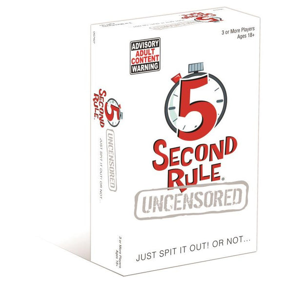 U Games; 5 Second Rule Card Game-Uncensored