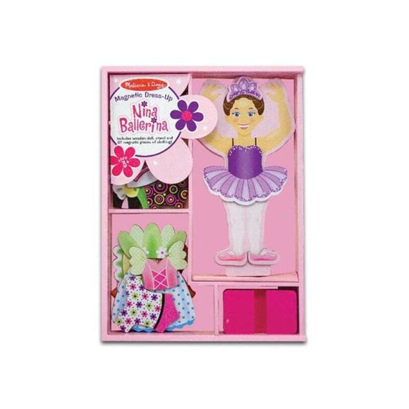 Melissa & Doug Magnetic Dress Up-Nina Ballerina