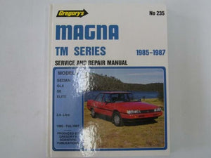 Magna TM Series: Service And Repair Manual  Gregory's Scientific Publications