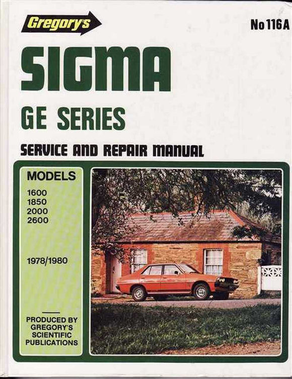 Sigma GE Series: Service And Repair Manual  Gregory's Scientific Publications