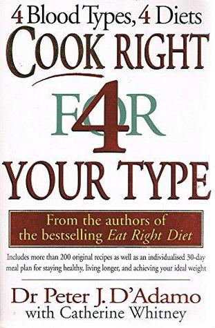 Cook Right for Your Type by Peter J. D'Adamo