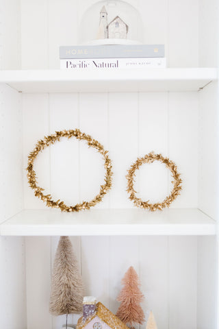 Gold Holiday Wreath