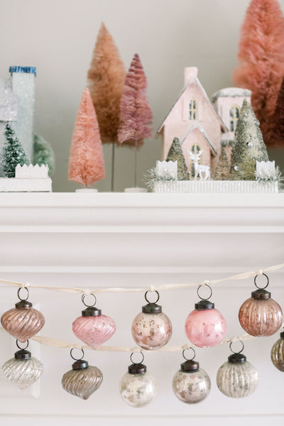 Pink Glitter Holiday House