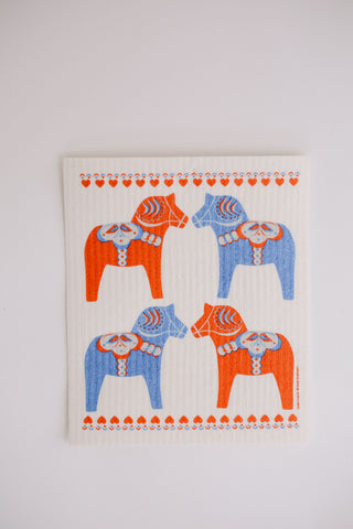 Dala Love - Swedish Dishcloth