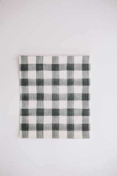 The Rachel (B&W Buffalo Check) - Swedish Dishcloth