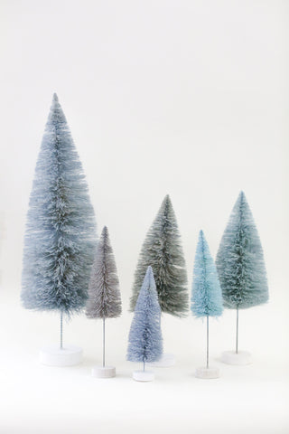 Winter Blue Multi-Height Pine Trees