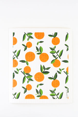 Oranges - Swedish Dishcloth