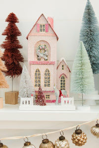 The Winter Pink Glitter Holiday House