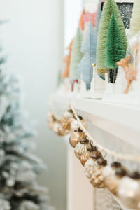 Cream Embossed Mercury Glass Garland