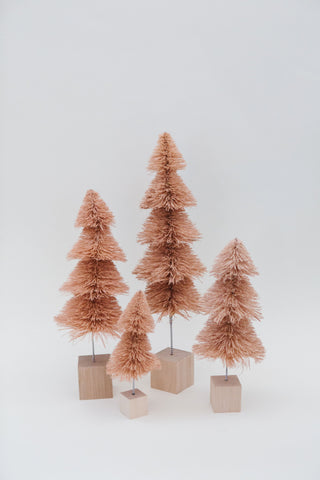 Blush Tiered Multi-Height Pine Trees