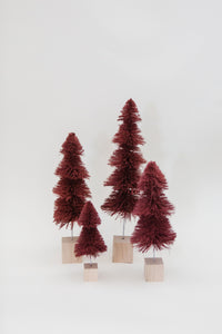 Burgundy Tiered Multi-Height Pine Trees