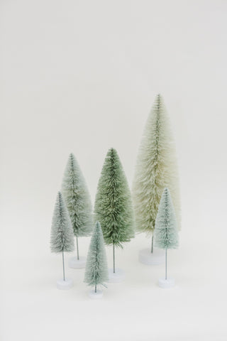 Winter Green Multi-Height Pine Trees