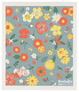 Flowers - Swedish Dishcloth
