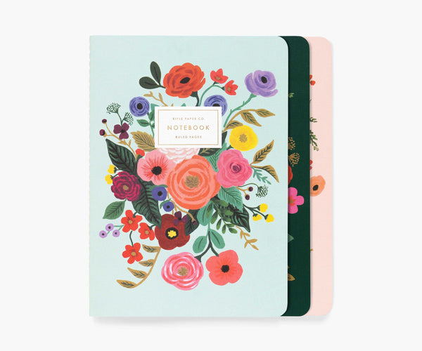 Garden Party Stitched Notebook (Set of 3)
