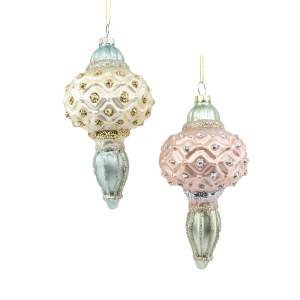 Colorful Glass Finial Ornaments