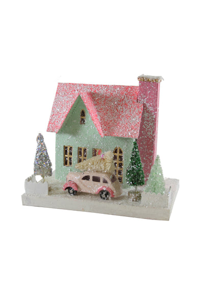 Light Green Glitter Holiday House