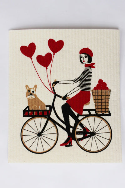 A Bicycle Built for Two - Swedish Dishcloth