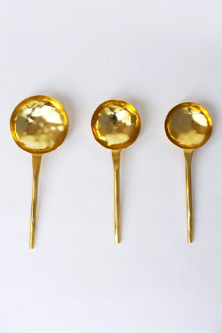 Golden Stainless Steel Spoon/Scoop Set