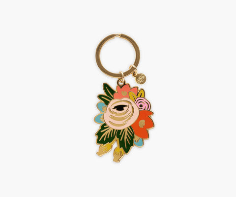 Rosa Floral Keychain