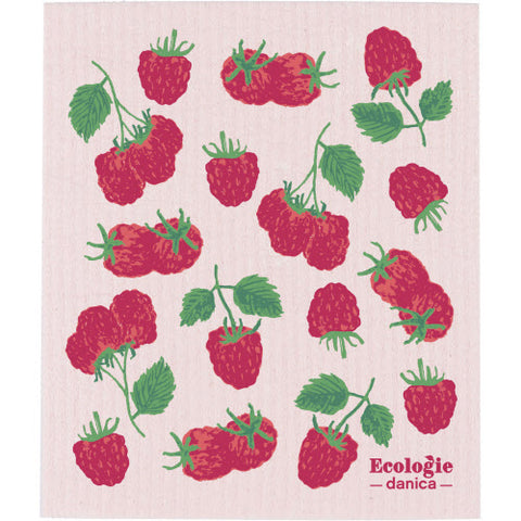 Raspberries - Swedish Dishcloth
