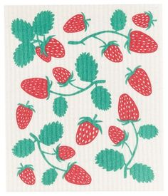 Strawberries - Swedish Dishcloth