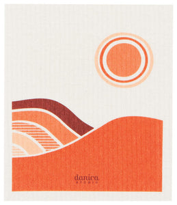 Sunset - Swedish Dishcloth
