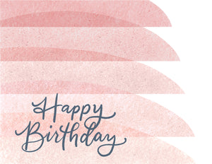 Happy Birthday Card (Blush) - Personalized