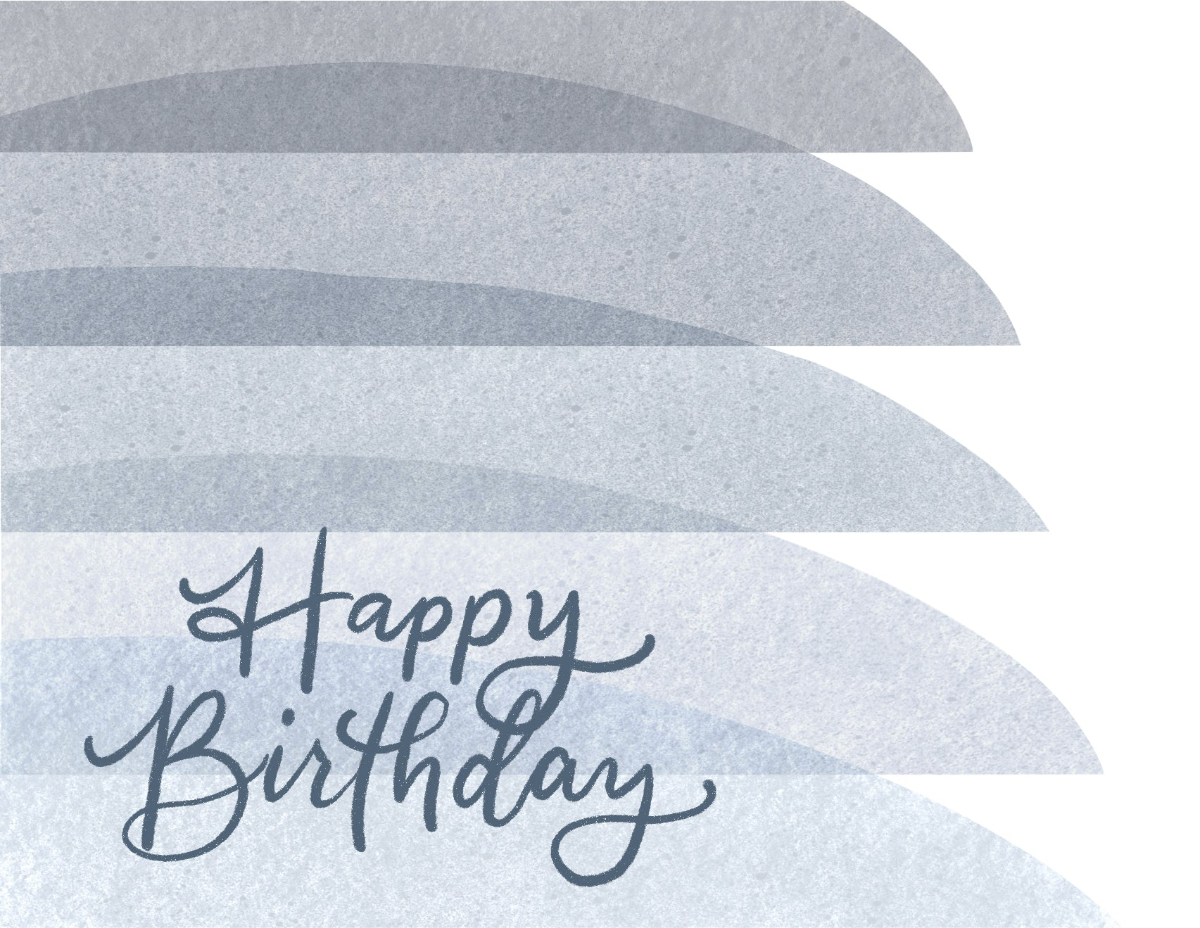 Happy Birthday Card (Blue) - Personalized