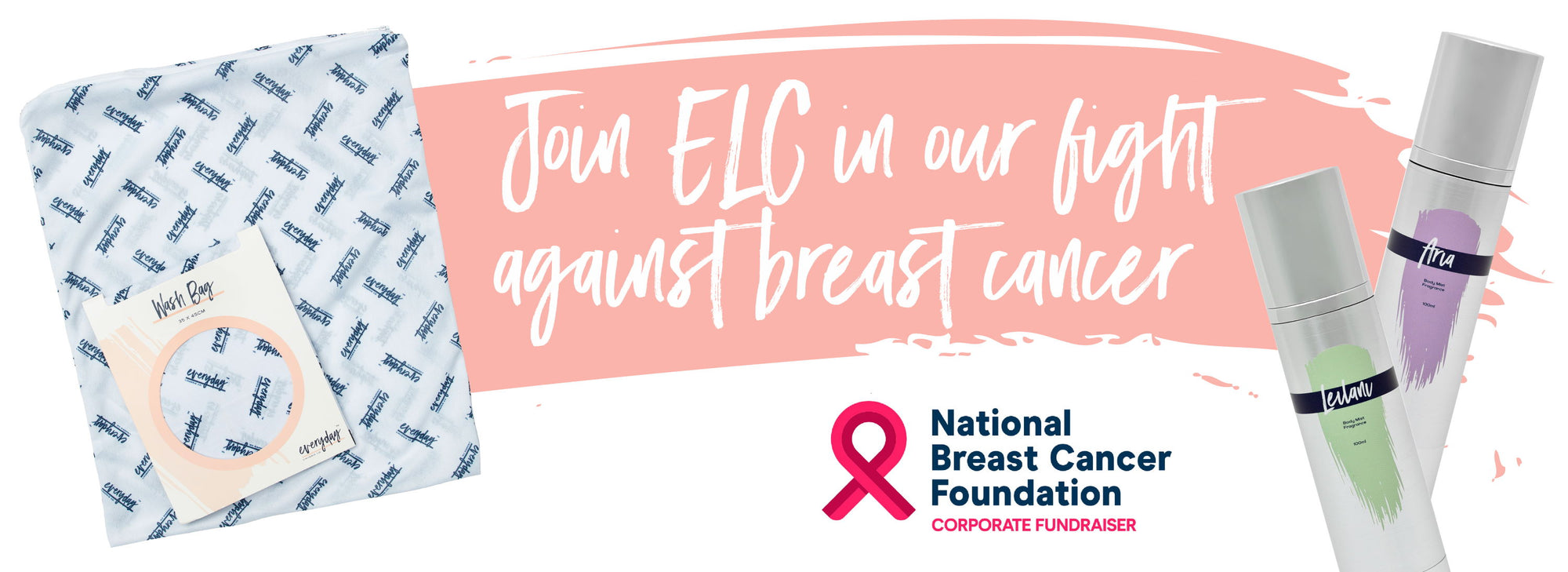 Image of Everyday Lingerie Co. supporting woman's breast cancer.