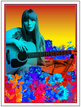 Load image into Gallery viewer, Morning Glory on the Vine: Early Songs and Drawings by Joni Mitchell w/ FREE Joni Mitchell Art Print