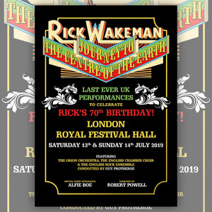 Rick Wakeman - Journey To The Centre Of The Earth Poster (SIGNED)