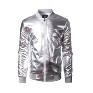 "The ""Giorgio"" High Gloss Bomber Jacket - Multiple Colors William // David Silver S"