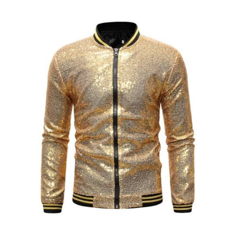 "The ""Crystal"" Slim Fit Bomber Jacket - Multiple Colors William // David Gold S"
