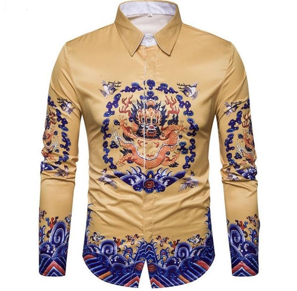 "The ""Doragon"" Long Sleeve Shirt - Gold William // David"