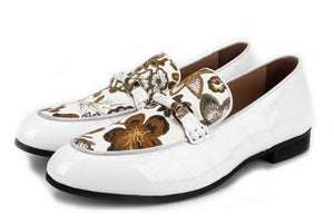 "The ""Dublin"" Embroidered Patent Leather Penny Loafers"