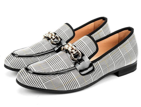 "The ""Fabian"" Plaid Penny Loafers"