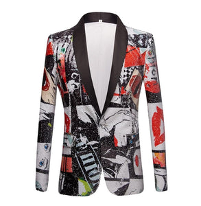 "The ""Art Basel"" Sequin Slim Fit Blazer Suit Jacket"