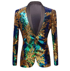 "The ""Remy"" Sequin Slim Fit Blazer Suit Jacket William // David"