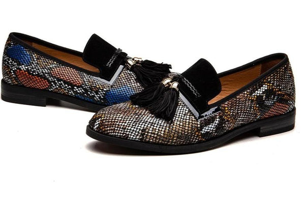 "The ""Pierre"" Snakeskin Tassel Loafers - Multiple Colors William // David"