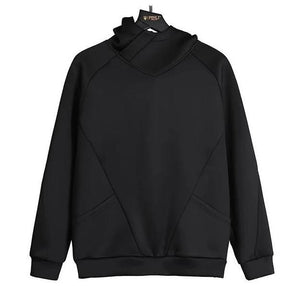 "The ""Sainte"" Hooded Sweatshirt - Satin Black William // David"