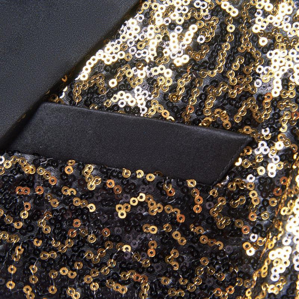 "The ""Bennett"" Sequin Slim Fit Blazer Suit Jacket William // David"